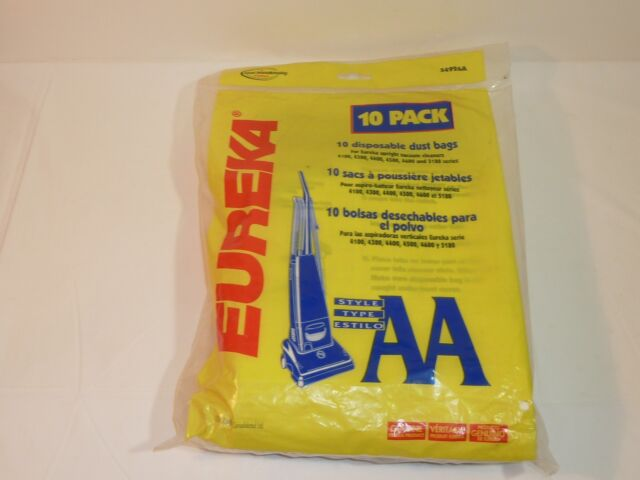 Genuine Eureka Brand Style AA Disposable Dust Bags 1 package of 10 bags per pack