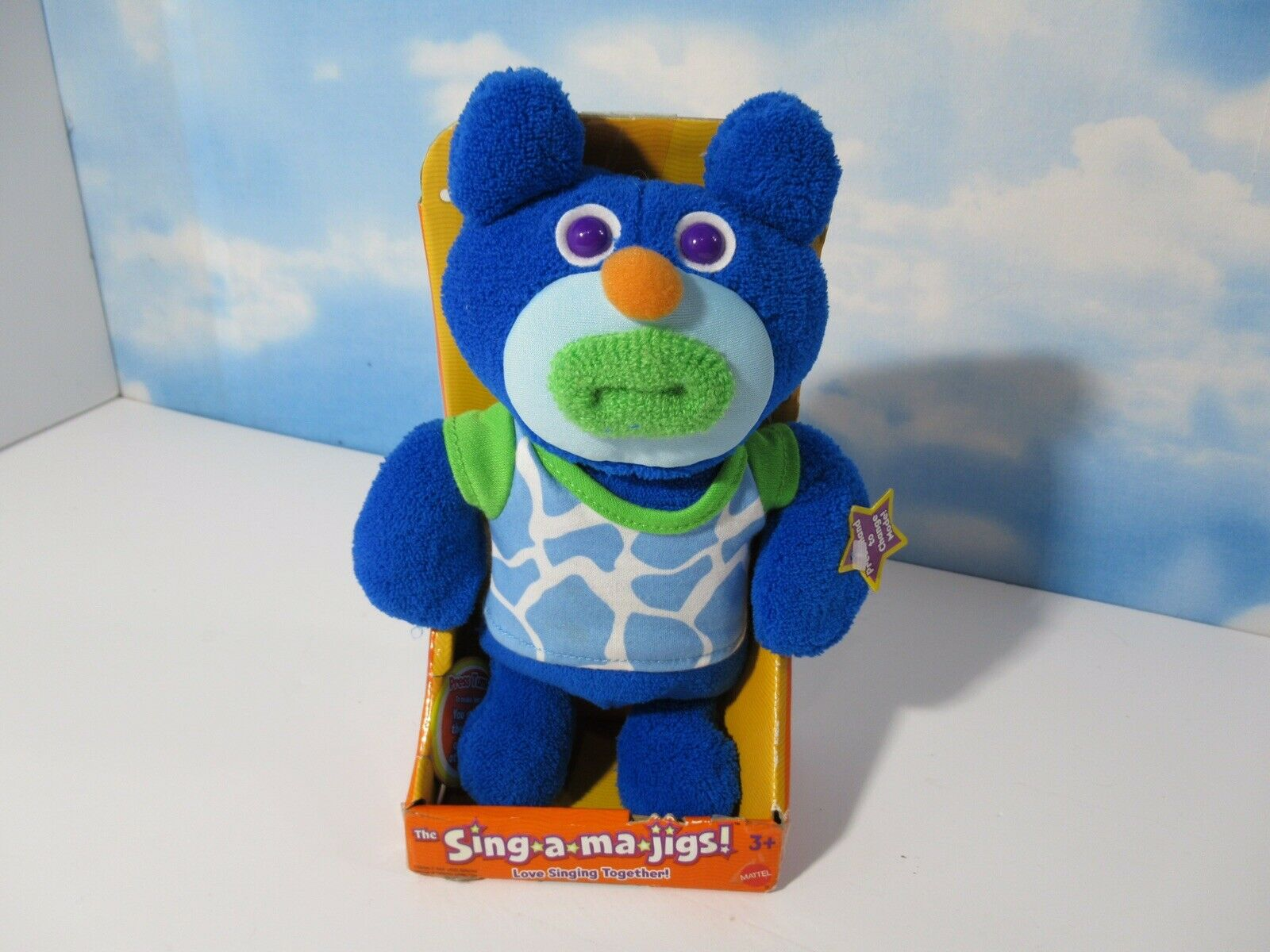 Mattel The Sing-A-Ma-Jigs  Midnight bluee PLUSH NEW BUT NEEDS A NEW BATTERY