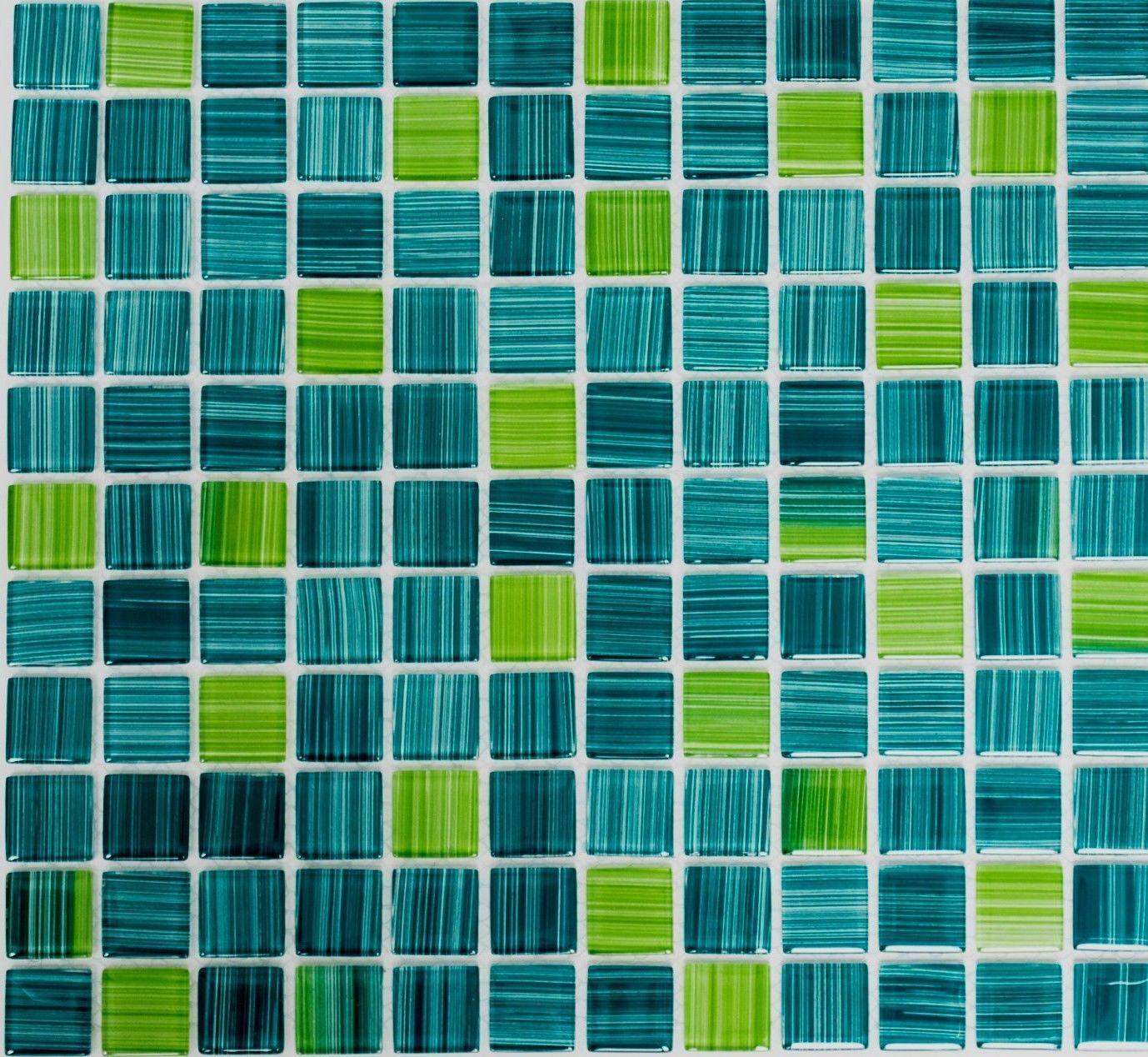 Mosaïque carreau translucide cristal Grün pâle cuisine mur 64-0509_f  10 plaques