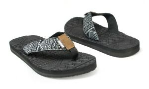 2bcdebc3597c Muk Luks Men s Scotty Sport Flip Flop Sandals Black Gray Size 10 11 ...