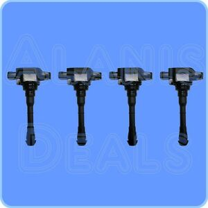 New-Premium-High-Performance-Ignition-Coil-Set-4-For-Nissan-Juke-2011-2015