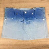 Bettina Liano Women's Jean Mini Skirt Blue Ombre Size 12 W32 L13 (blb)