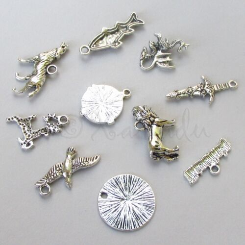 20 Or 50PCs Game Of Thrones Antiqued Silver Plated Charms Mix CM0611-10