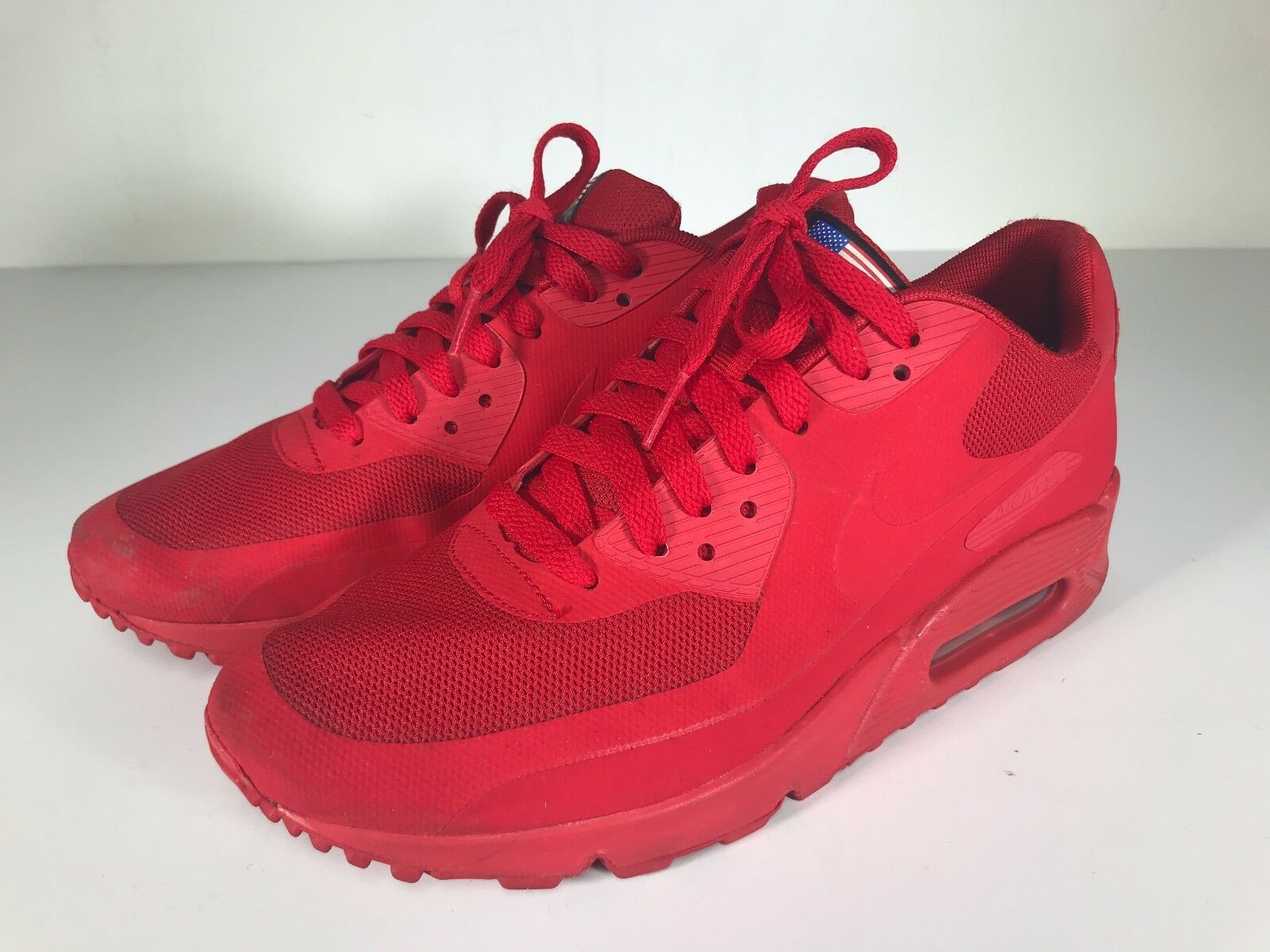 Pre-Owned Nike Air Max 90 Red Independence Day Sneakers Size 8