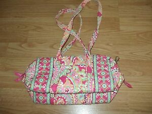 Vera-Bradley-pink-yellow-green-blue-quilted-floral-cotton-shoulder-bag-handbag