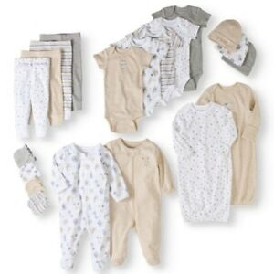 06023531d Newborn Baby Shower Gift Set Boy Girl Unisex 20 Piece Layette Outfit ...