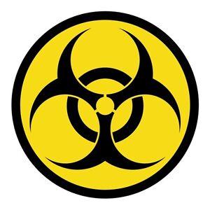 Biohazard Symbol Hard Hat Decal Label Motorcycle