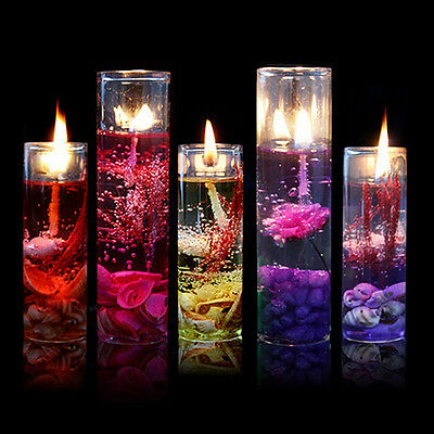 Romantic Glass Bottles Ocean Smokeless Jelly Wax Wedding Gel Candles Showy