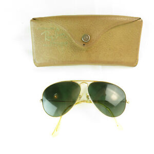 Vintage-Ray-ban-Aviator-Outdoor-58-14-B-amp-L-Sunglasses-w-Case
