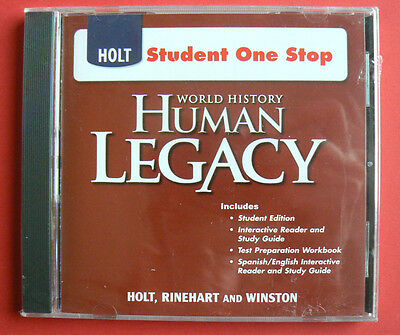 Holt World History HUMAN LEGACY Student One Stop NEW S S CD Rom Student Ed 9780030937743 EBay