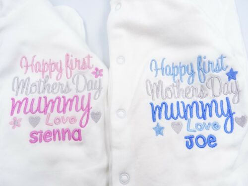 Personalised Embroidered *T-SHIRT HAPPY 1ST MOTHERS DAY BABY TODDLER TSHIRT Gift