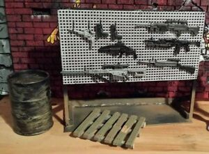 1:12 scale gun weapon rack action figure prop Marvel Legends WWE DC Universe