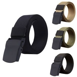 Fashion Man Women Automatic Nylon Belt Buckle Military Fans Tactical ... 01cc0249ff