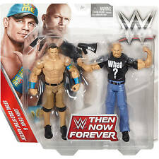 WWE JOHN CENA & STONE COLD STEVE AUSTIN THEN NOW FOREVER BATTLE PACK EXCLUSIVE