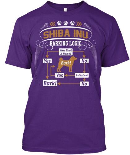 Shiba Inu Dog Barking Logic Hanes Tagless Tee T-Shirt