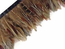 1 Yard - Natural Brown Ringneck Pheasant Plumage Feather Trim