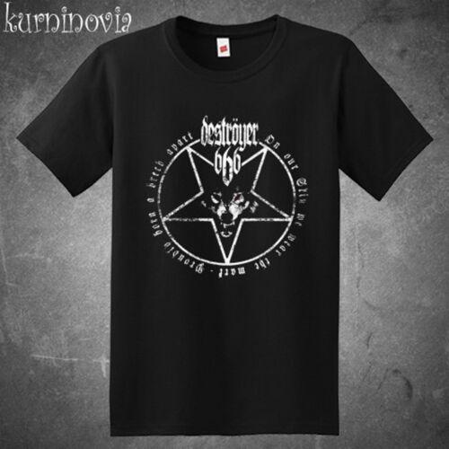 Destroyer 666 Band Black Metal Band Logo Men/'s Black T-Shirt Size S to 3XL