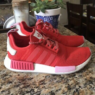 Adidas Nmd R1 Womens Size 7 Valentines Day Ee3829 Red Athletic