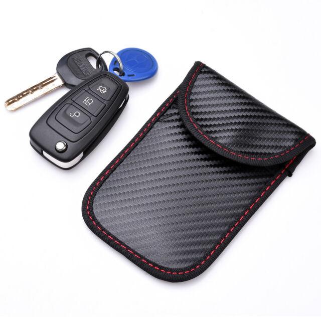 1pc Car Key Signal Blocker Case Faraday Cage Fob Pouch Keyless RFID  Blocking Bag