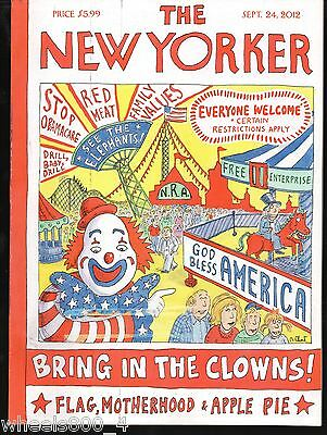 "The New Yorker Magazine September 24, 2012 ""Bring in the Clowns!"" by Roz Chast"