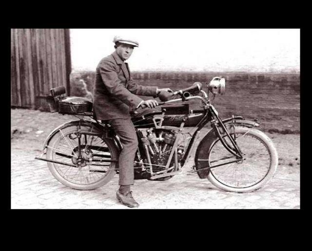 1914 Indian V Twin Sidecar Bike Vintage Motorcycle Card For Sale Online Ebay