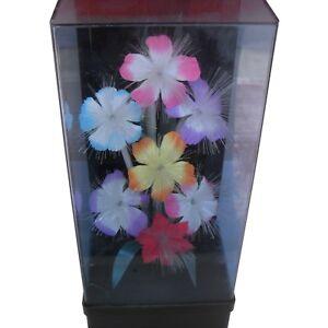 Ancienne Lampe Fleurs Lumineuse Couleur Top Kitch Lumiere Fibre