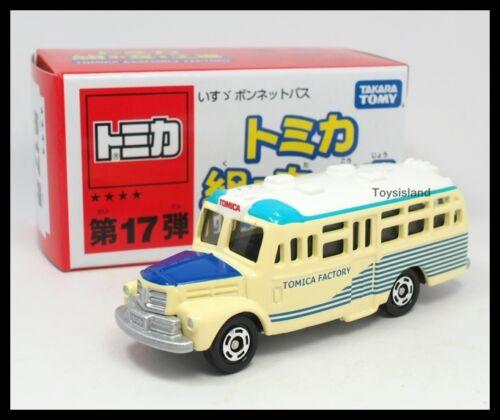 TOMICA ASSEMBLY FACTORY 17 ISUZU BONNET BUS BLUE 1//110 TOMY DIECAST CAR 6