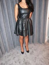 ladies faux leather clubbing pvc mini dress .