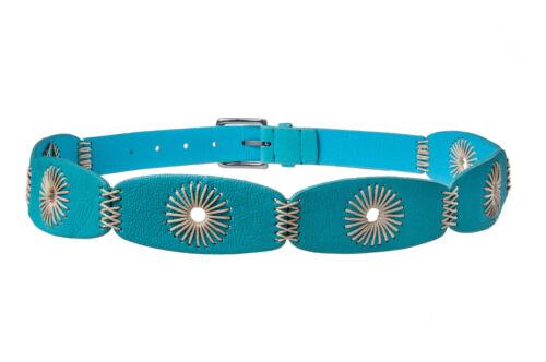 Cintura ECOPELLE thread Metallo Color Argento Fibbia Cintura Donna Tg 8-14 sbd7
