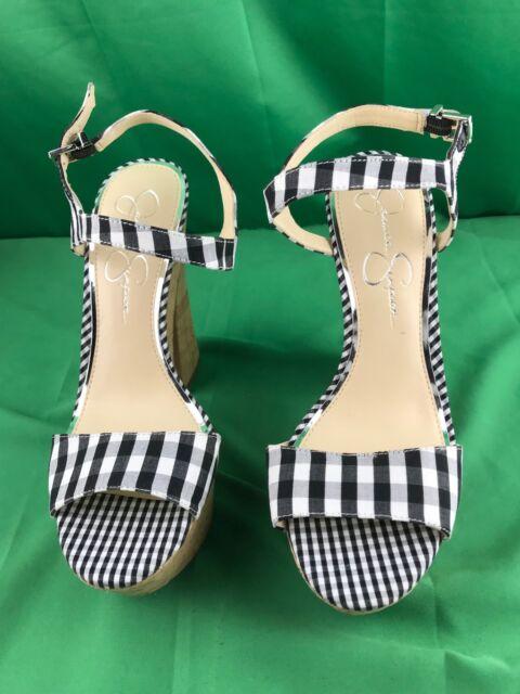 65749a3c6e3f Jessica Simpson Divella Black And White Platform Heel Dress Sandals ...
