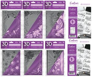"""Crafter/'s Companion ~ 5x7/"""" Carpeta de grabación en relieve ~ ~ Fiesta de Cumpleaños Cupcakes"""