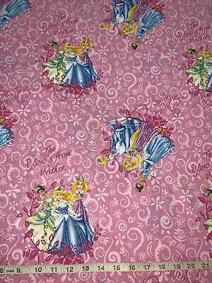 Disney Princess Faces Cotton Fabric Sold by the FQ or 14 yard-quantity of 4  = 1 yards
