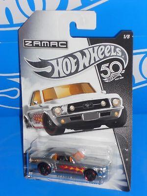 Hot Wheels 2018 50th Anniversary Wal-Mart ZAMAC Series #1 /'67 Ford Mustang Coupe