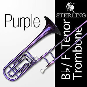 PURPLE-Bb-F-Tenor-STERLING-Trombone-High-Quality-With-F-Trigger