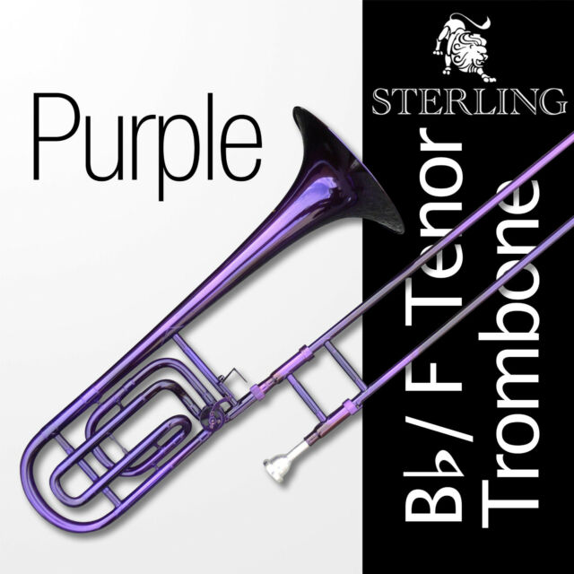 PURPLE Bb/F Tenor STERLING Trombone • High Quality • With F Trigger •  Brand New