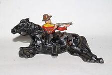 Johillco Vintage Lead Figure,  (J110) 904C Cowboy Firing From Behind Horse