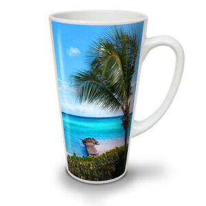 Blue Sea Tropic Nature NEW White Tea Coffee Latte Mug 12 17 oz | Wellcoda