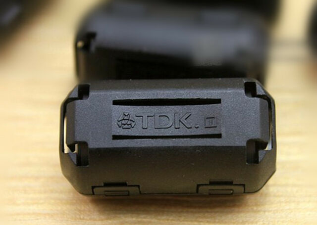 1pc TDK 9mm Clip-on RFI EMI RF Radio Audio Video Cable Noise Filter Ferrite Core