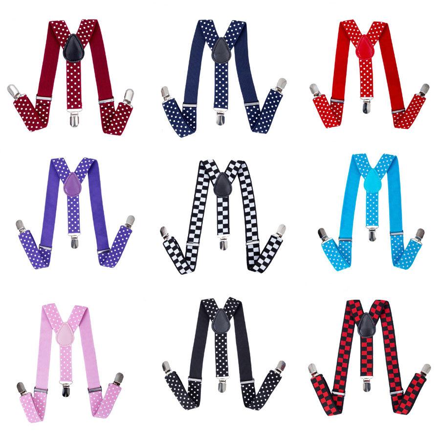 Mode Einstellbar Y–Form Elastisch Kinder Hosenträger Jungen Farben 3 Clips