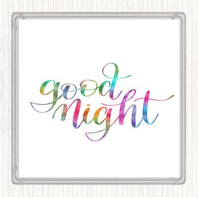 - Buonanotte Rainbow Preventivo Bevande Mat Coaster-mostra Il Titolo Originale