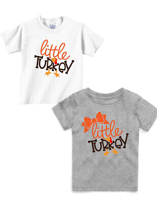 Coolest Turkey in Town Kids Boy T-shirts Bodysuits Thanksgiving Day Party NEW