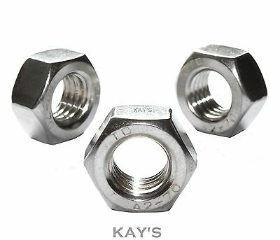 M1.6/2/2.5/3/3.5/4/5/6 & 8mm A2 Stainless Steel Nuts To Fit Our Bolts & Screws