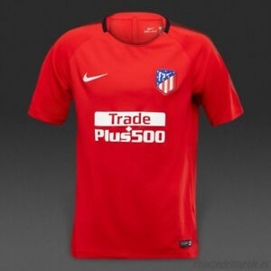 Hommes-Nike-Dry-Atletico-Madrid-17-18-Squad-top-maillot-rouge-taille-XL-855728-611-NEUF