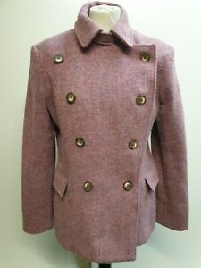 CC59-WOMENS-DICKINS-amp-JONES-PURPLE-DOUBLE-BREASTED-WOOL-JACKET-UK-L-12