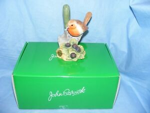 John-Beswick-Bird-Robin-On-Trowel-Collectable-Ornament-Present-Birthday-JBB19