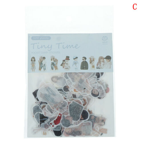 100pcs//pack Cat Flower Diary Memo Stickers Pack Kawaii Scrapbooking SticRKCA