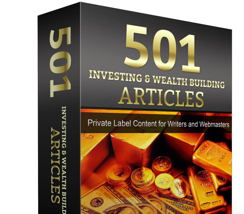 501 Stock Market & Investing PLR Articles eBook DVD  Forex Gold Website Content