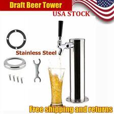 Chrome Beer Dispenser Single Tap Stainless Steel Draft Beer Tower Single Faucet