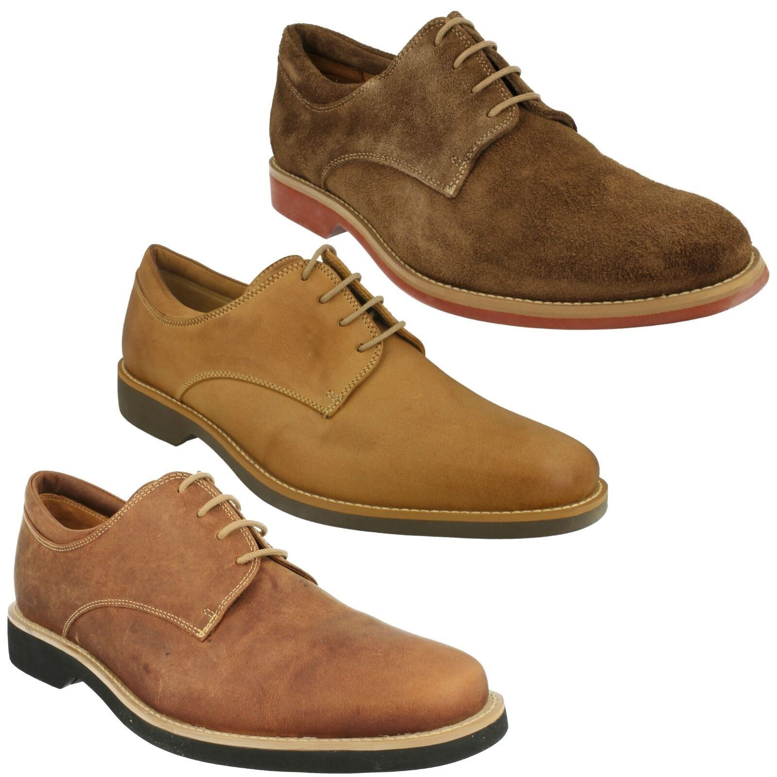Herren ANATOMIC DELTA LACE UP TAN BROWN PEACH SUEDE LEATHER SMART FORMAL Schuhe