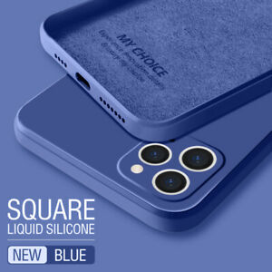 For-Apple-iPhone-12-11-Pro-Max-XS-XR-8-7-Plus-SE-Liquid-Silicone-Case-Soft-Cover
